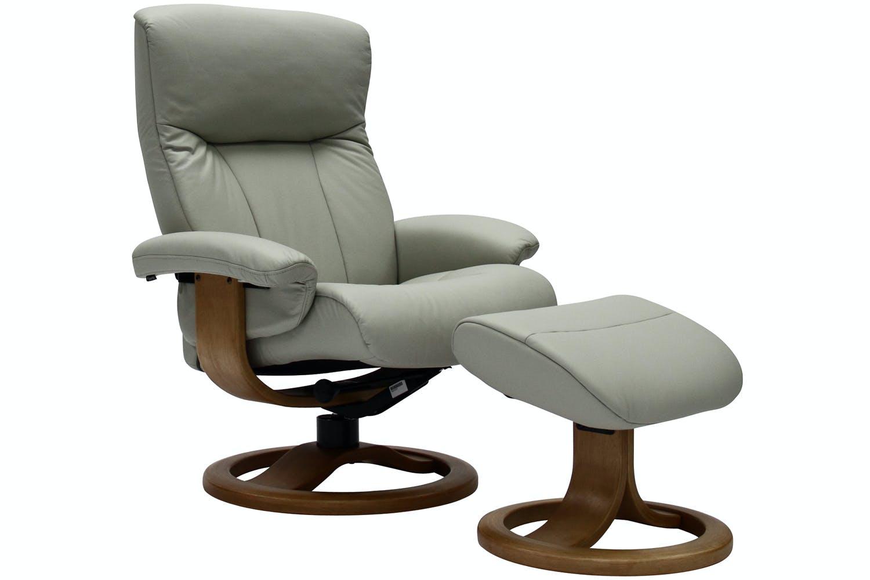 Rhine Chair with Stool | Shadow Grey with Oak Base