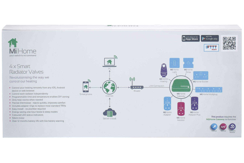 Energenie Mi Home Radiator Valve | 4 Pack