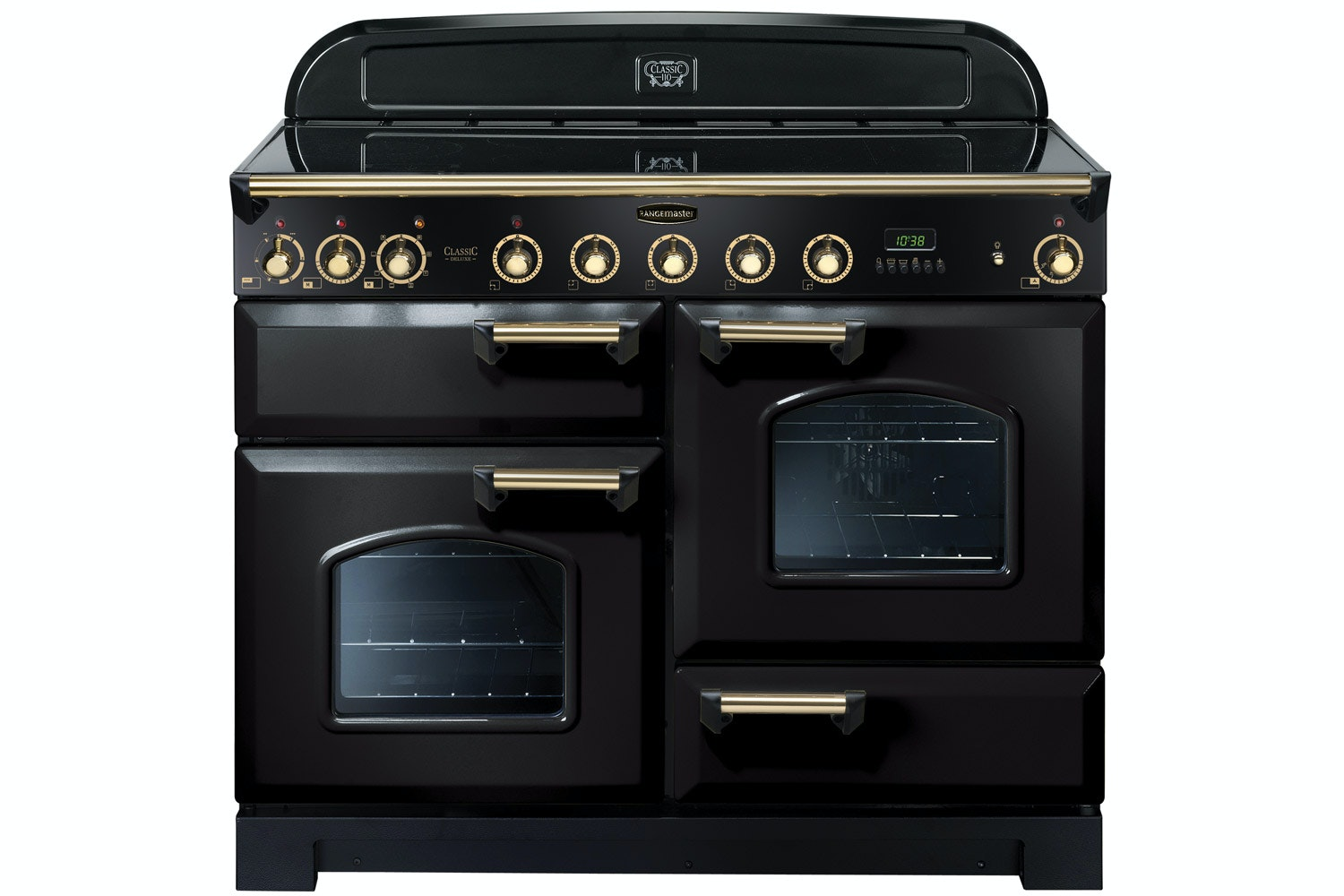 Rangemaster Classic Deluxe 110cm Electric Range Cooker | CDL110EIBL/B | Black