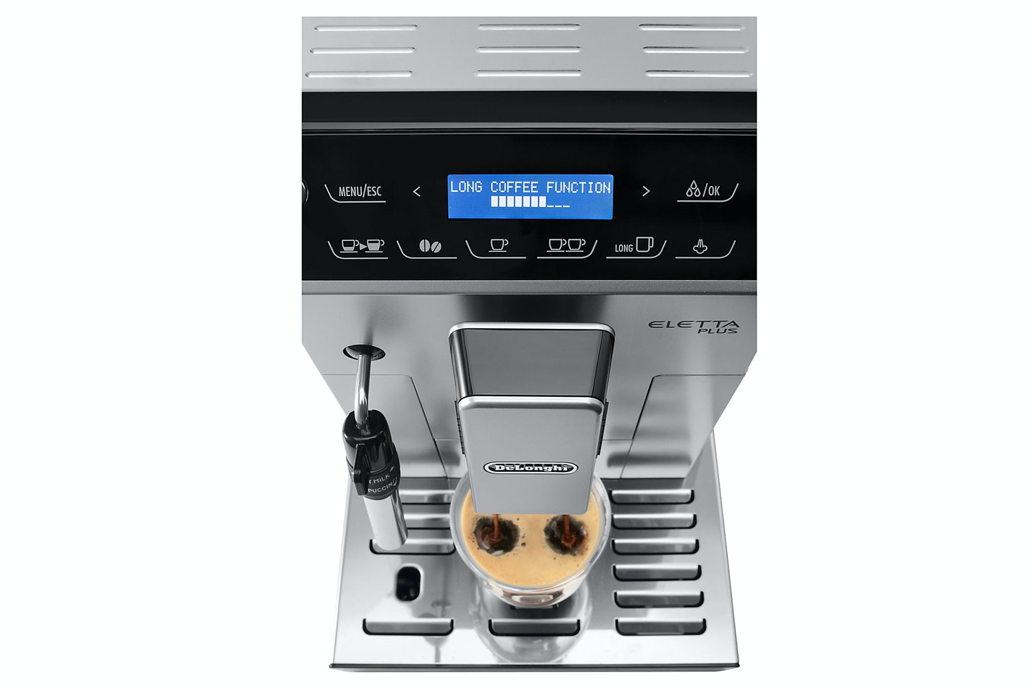 Delonghi Eletta Plus Bean to Cup Coffee Machine | Silver