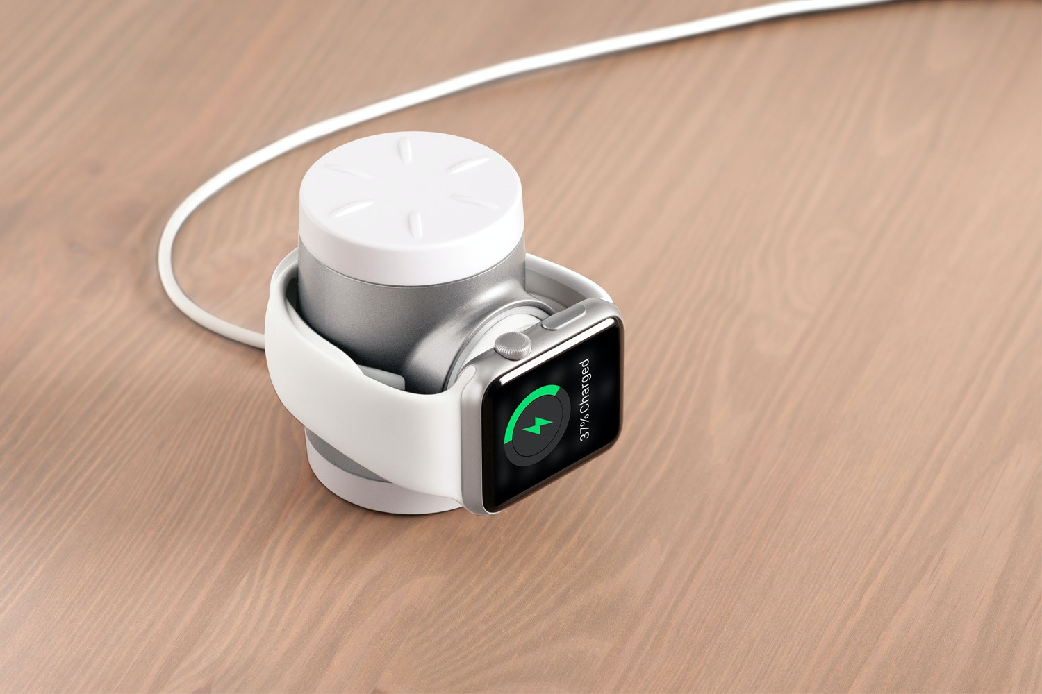Techlink Recharge Portable iWatch Charger | Silver