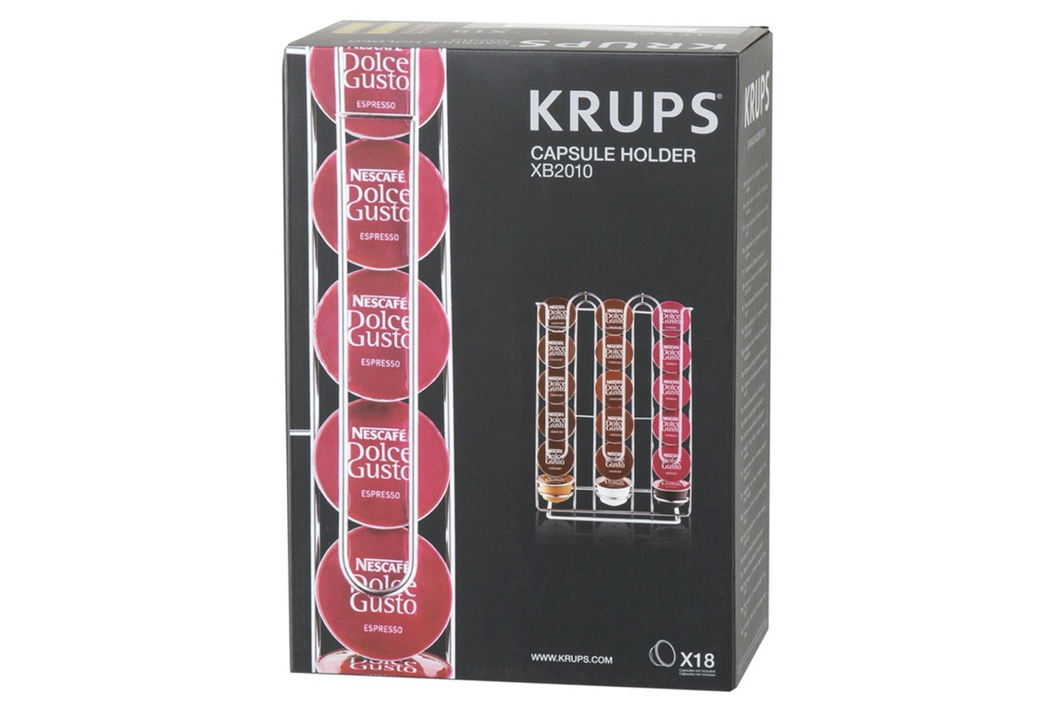 Krups DG Pod Holder | Stainless Steel