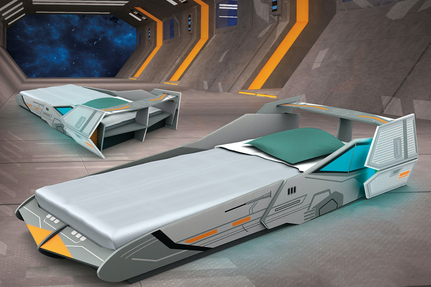 Galactic Starship Bed Frame