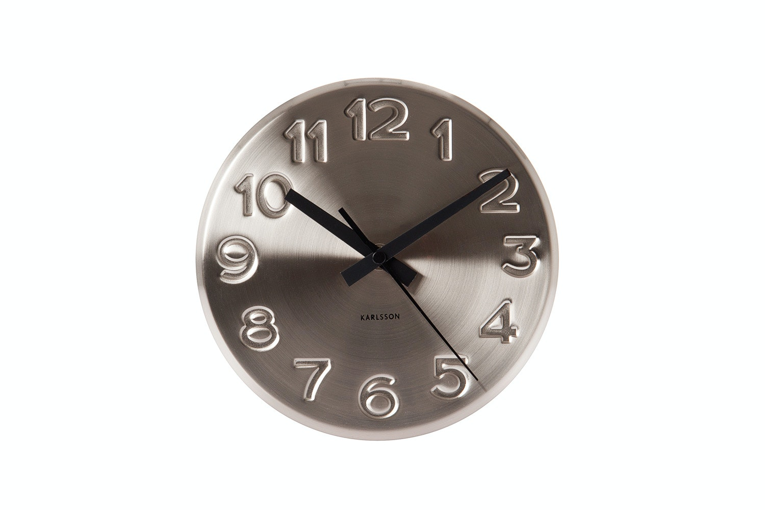 Bold Steel Wall Clock