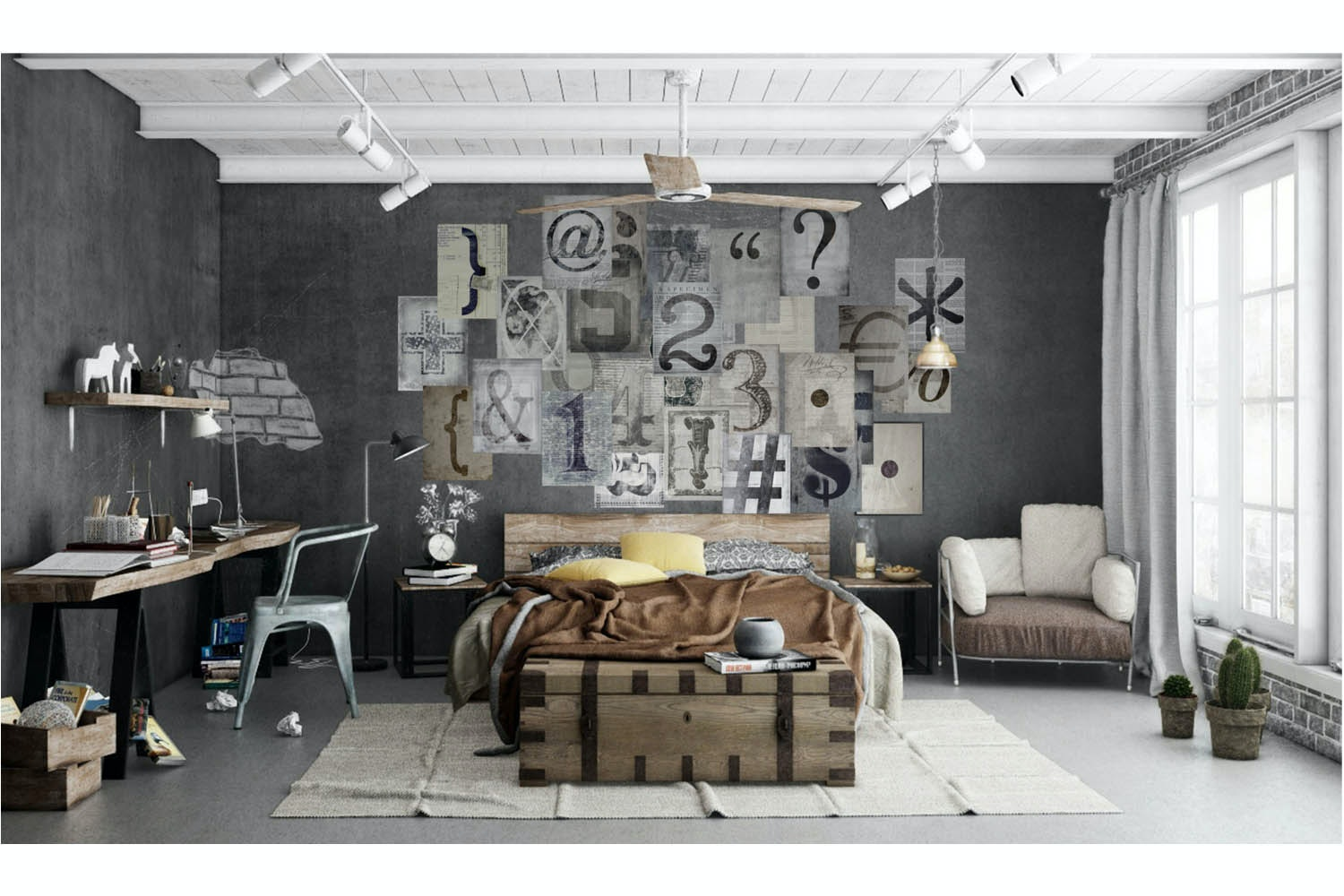 Creative Collage Wall Art Kit | Typography