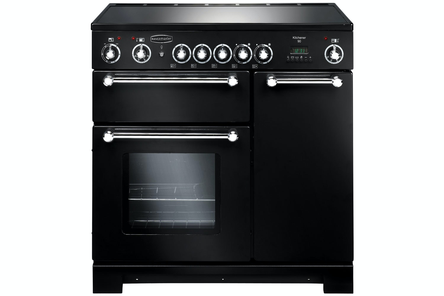 Rangemaster Kitchener 90cm Electric Range Cooker | KCH90ECBL/C | Ceramic
