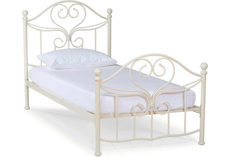 Julliet Metal Bed Frame 3ft Ivory Ireland