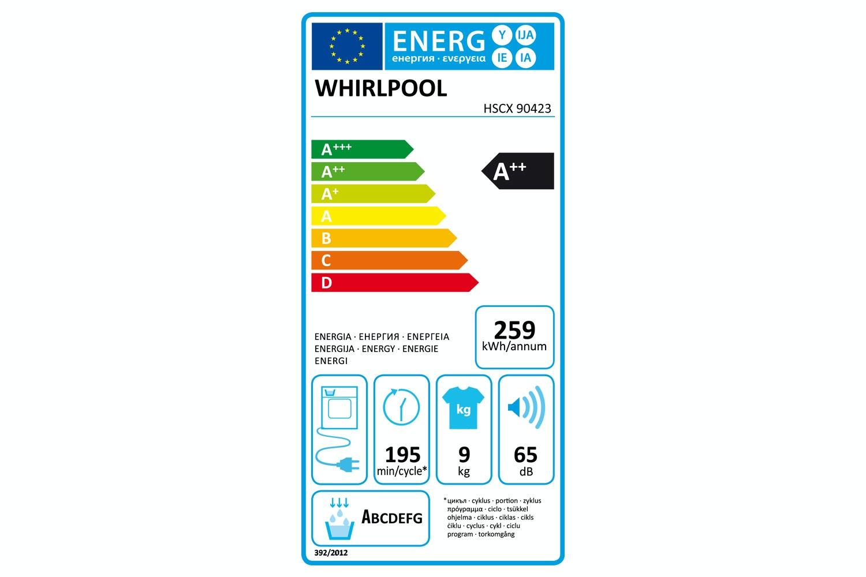 Whirlpool 9kg 6th Sense Condenser Dryer | HSCX90423
