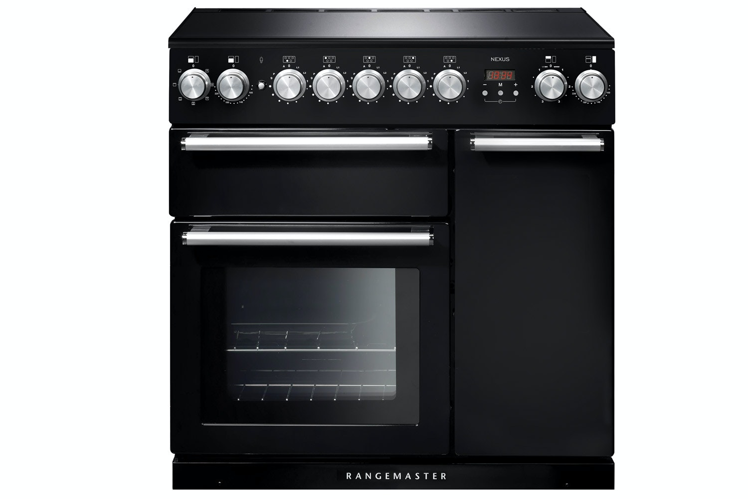 Rangemaster Nexus 90cm Electric Range Cooker | Induction | Black