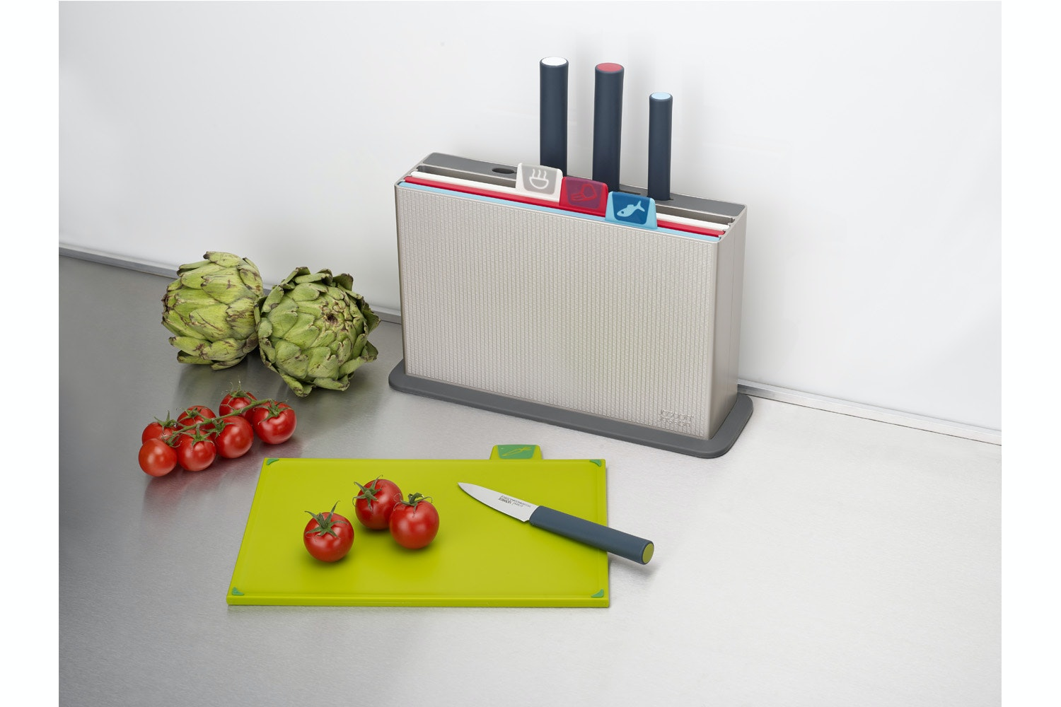 Joseph Joseph Index Chopping Boards With Knife