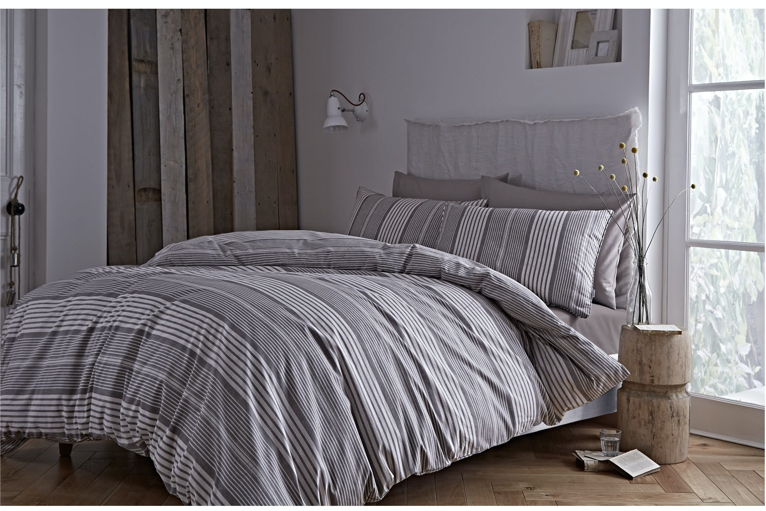 BDB39104RSKQS,Tailored, stripe,Quiltset, Double,duvet,cover,Single,Pillowcase,Oxford,Super, King,