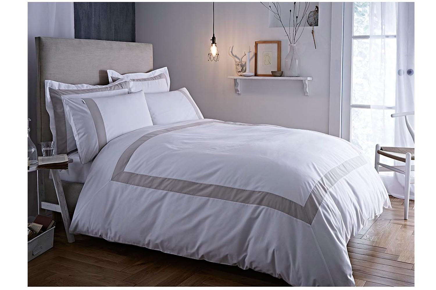 Tailored Natural Duvet Cover Set  | Double