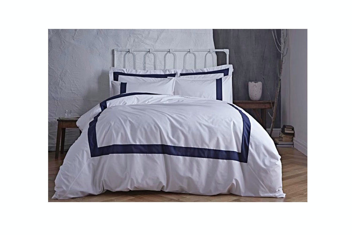 BDB35766RSQS,Tailored, Navy,Quiltset, Double,duvet,cover,Single