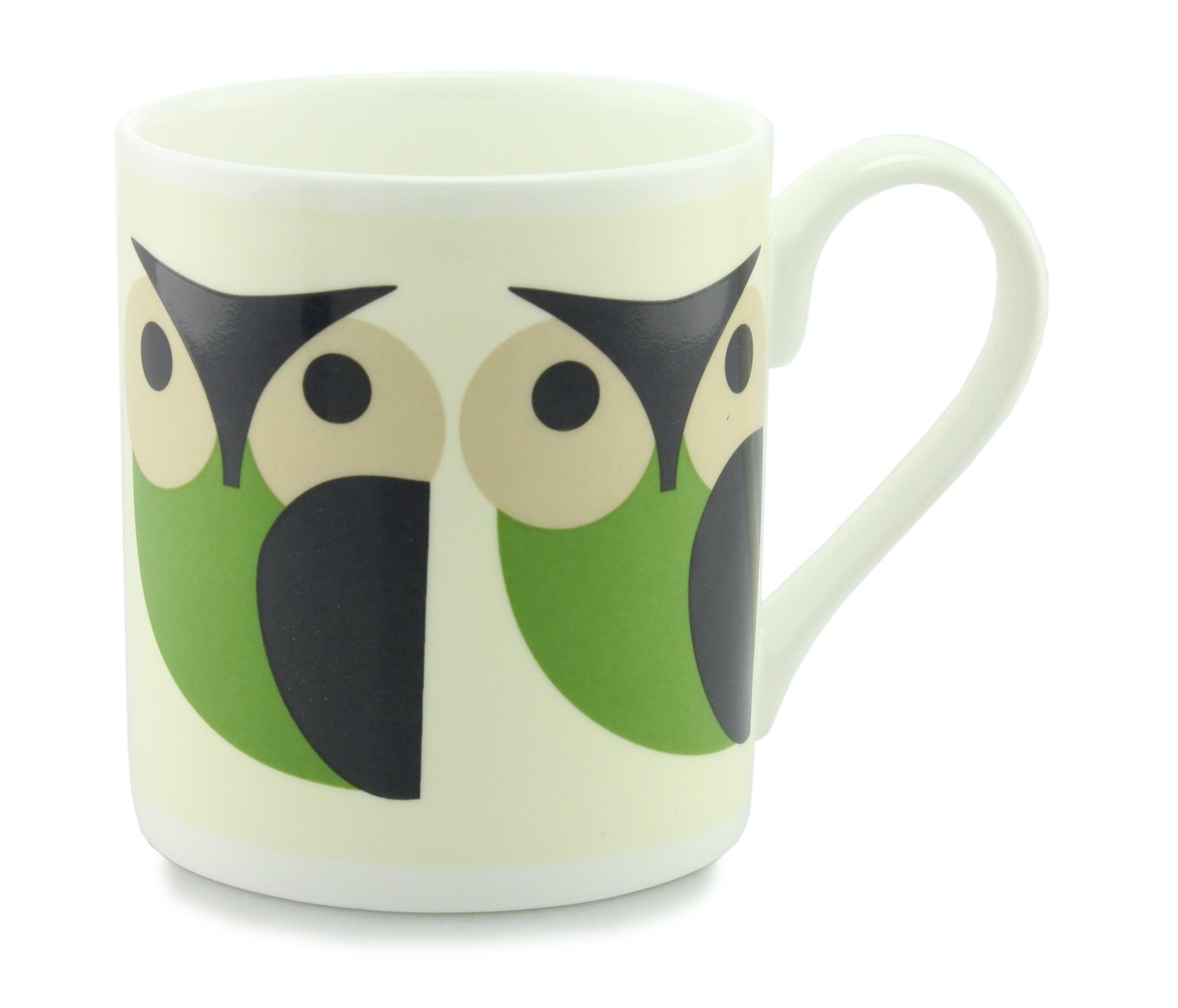 Orla Kiely Green Owl Mug