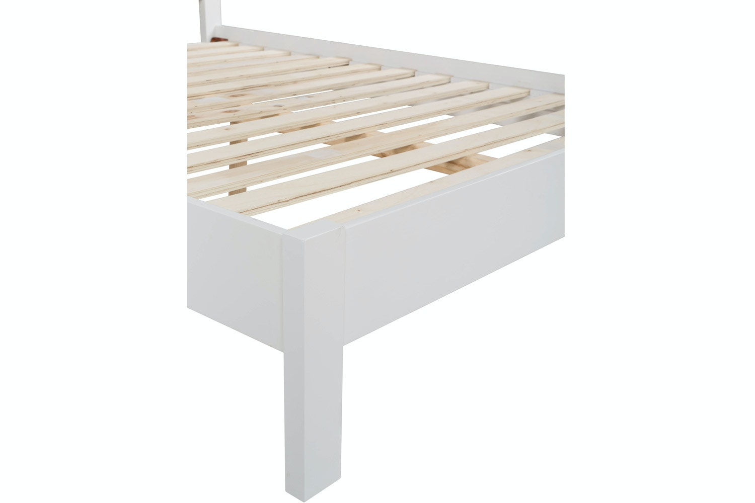 Ascott Double Bed Frame | 4ft6 | White