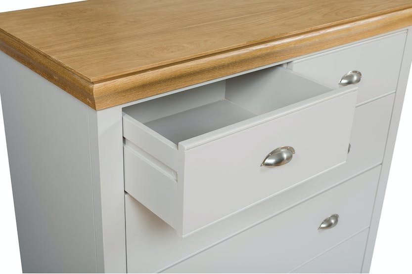 Ascott 3+2 Drawer Chest | Pebble Stone