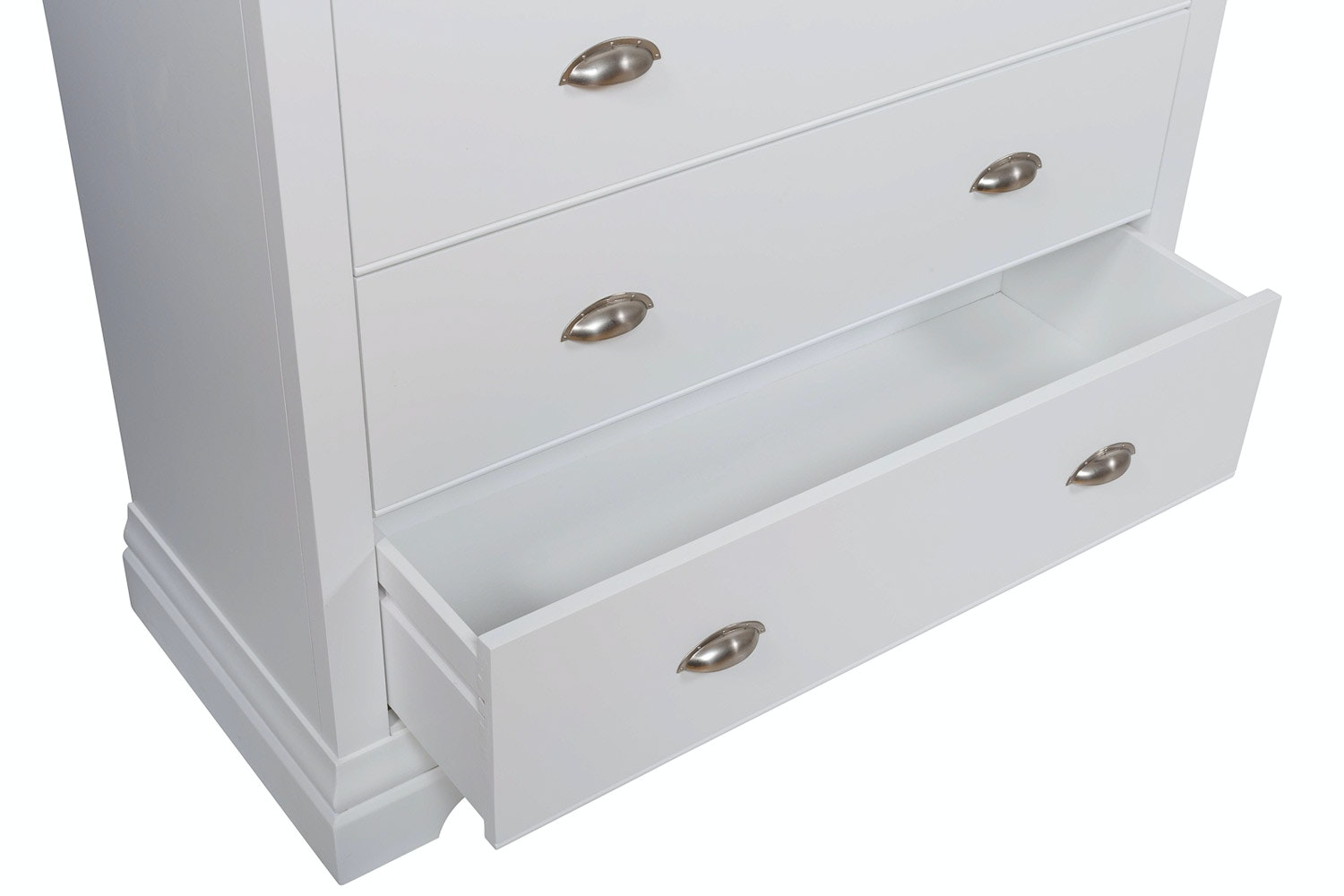 Ascott 3+2 Drawer Chest | Angel White