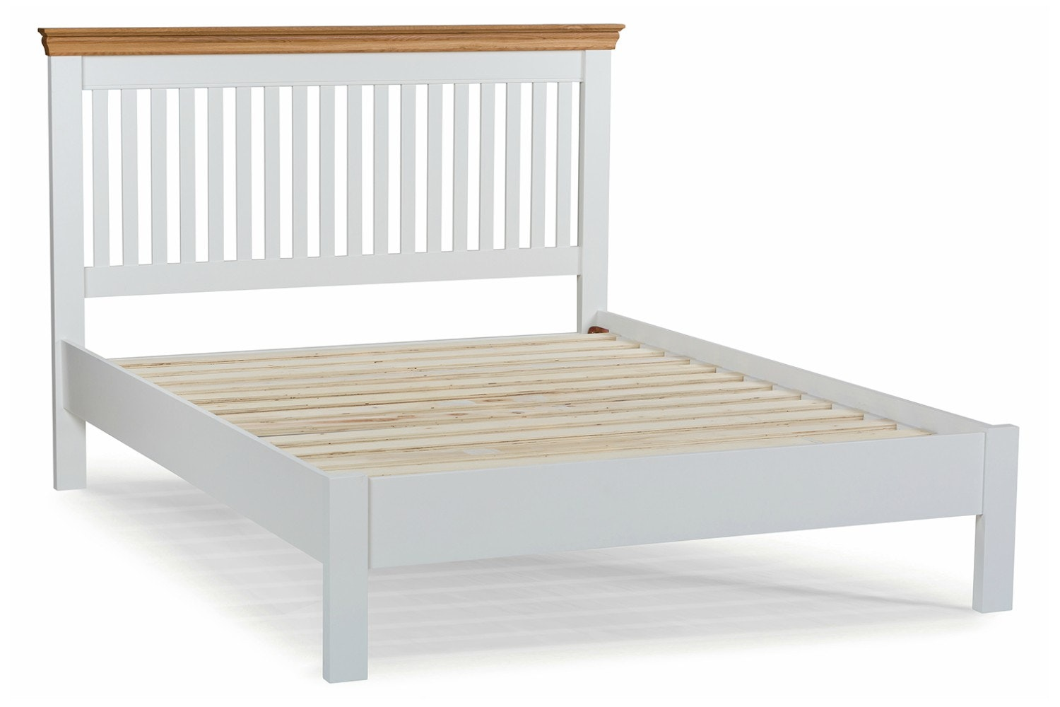 Ascott King Bed Frame | 5ft | Angel White