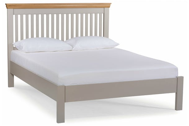 Ascott Double Bed Frame | Pebble Stone | 4ft6