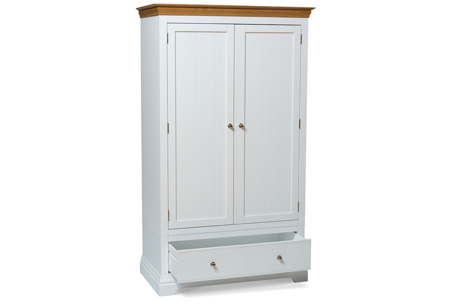 Ascott Double Wardrobe | Angel White