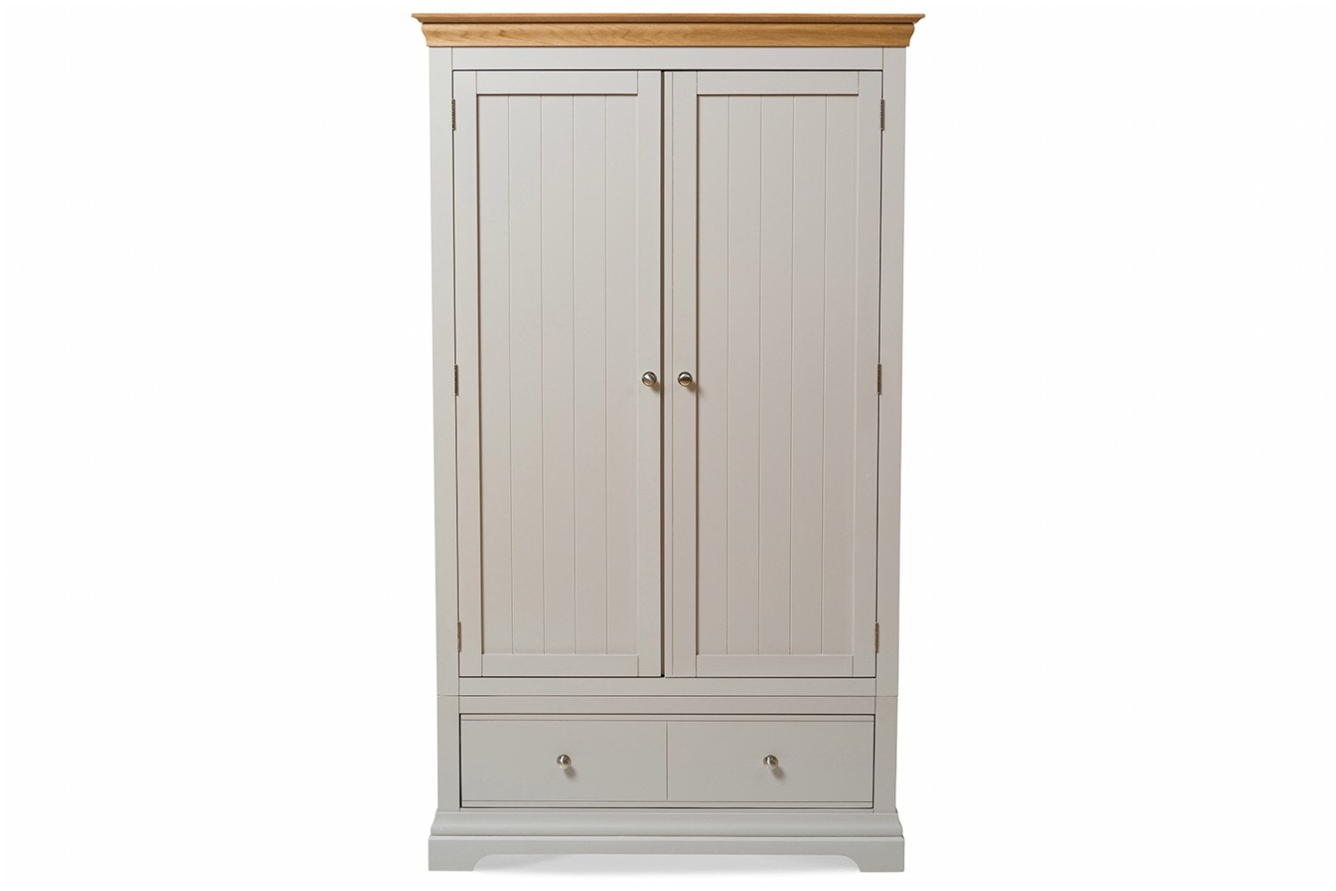 Ascott Double Wardrobe | Pebble Stone