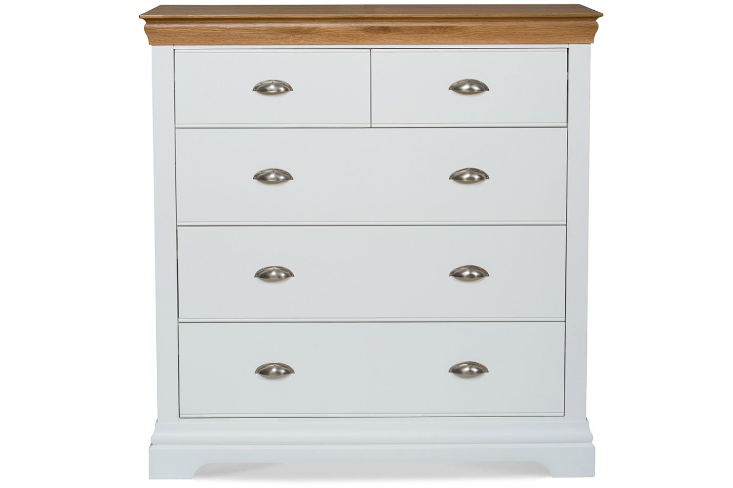 Ascott 3 2 drawer chest angel white ireland for Bedroom furniture chest of drawers