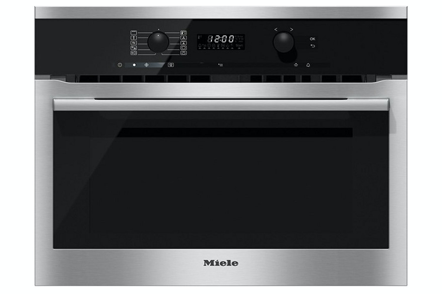 Miele 43L 1000W Combi Microwave | H6100BM | Black & Stainless Steel