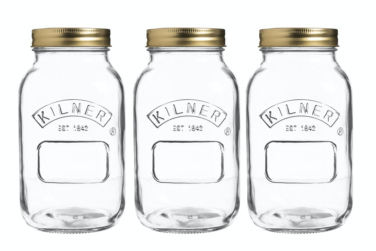 kilner preserve jars 1 litre set of 3
