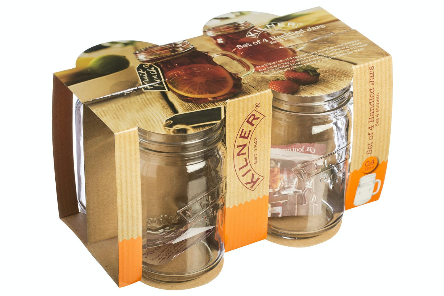 kilner set of 4 handled jars