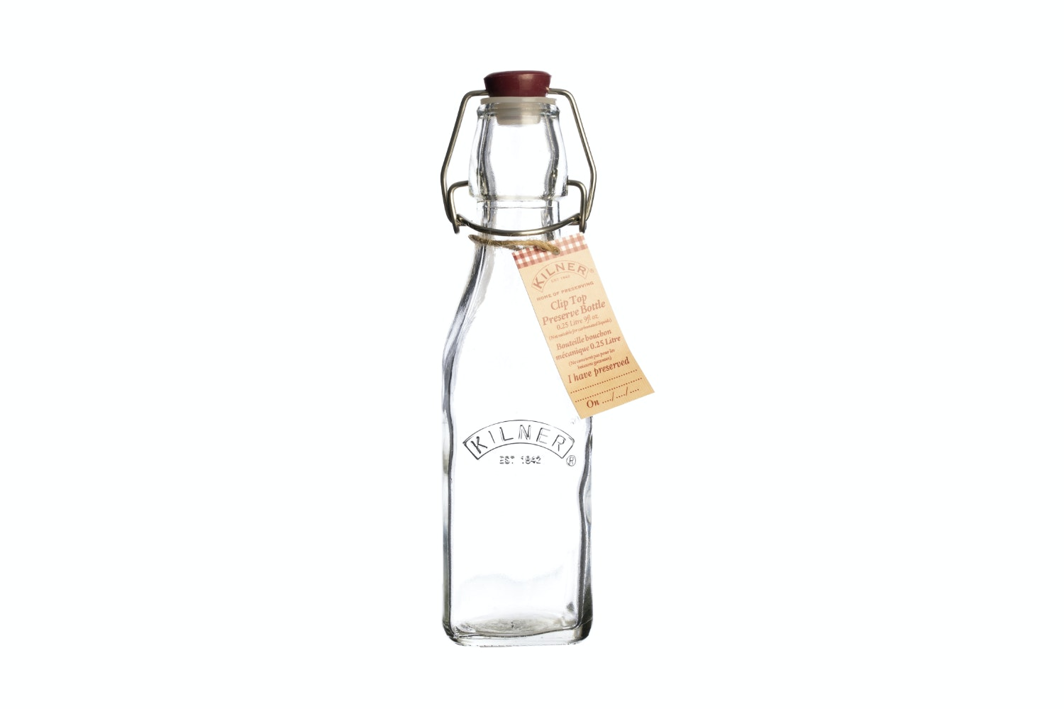 kilner square clip top bottle 250ml