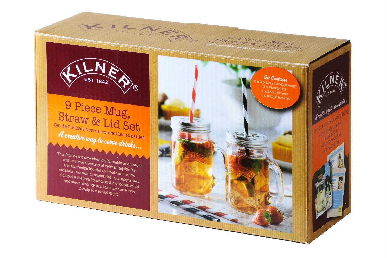 Kilner | 9 Piece Mug And Straw Set