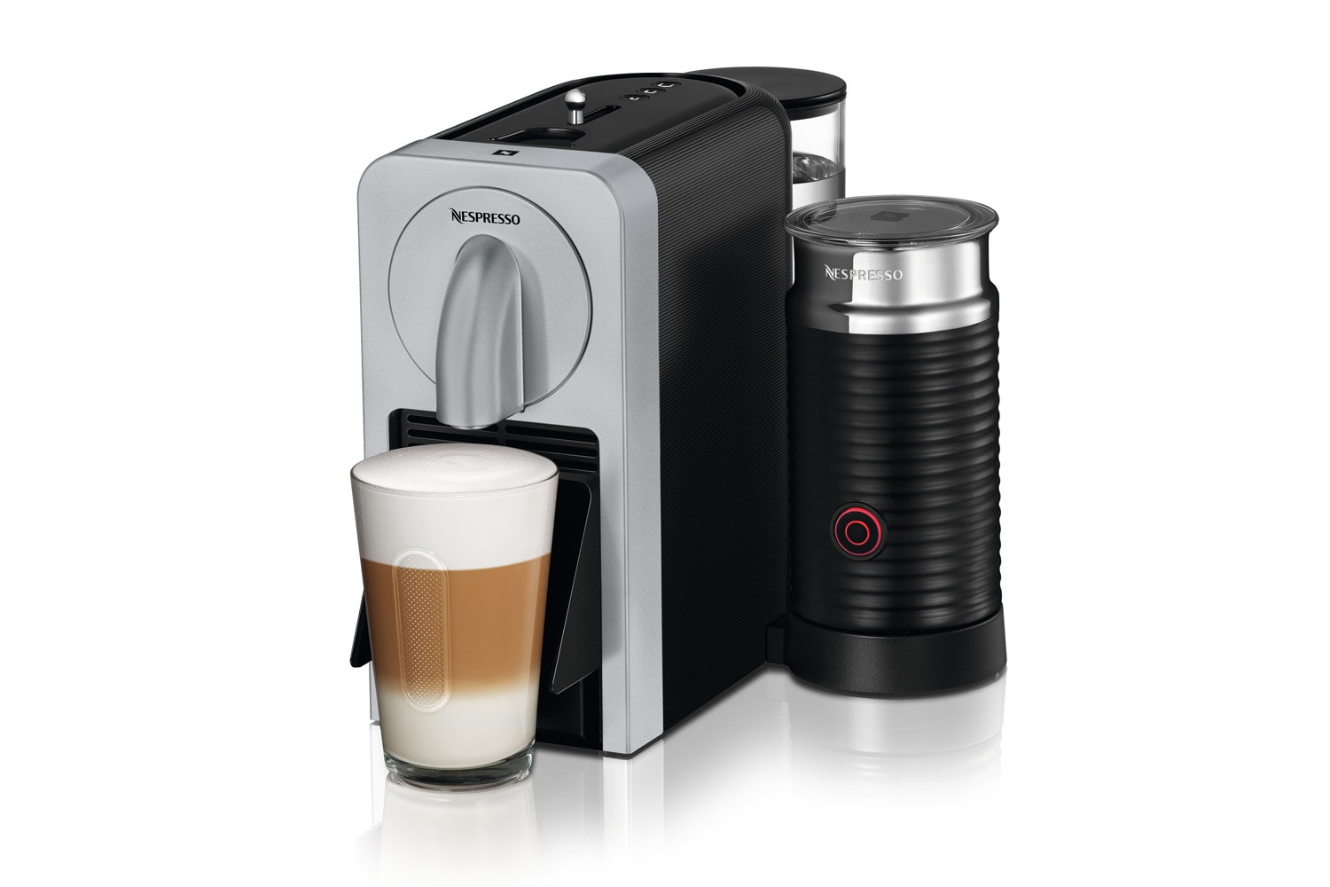 Magimix Nespresso Prodigio Coffee Machine with Aeroccino | Silver