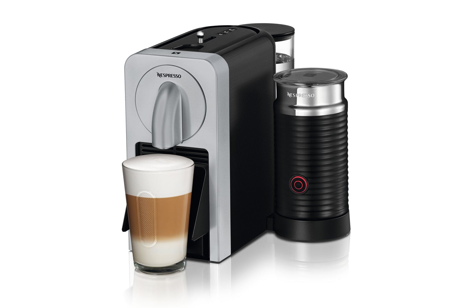Nespresso Prodigio Coffee Machine With Aeroccino | Silver