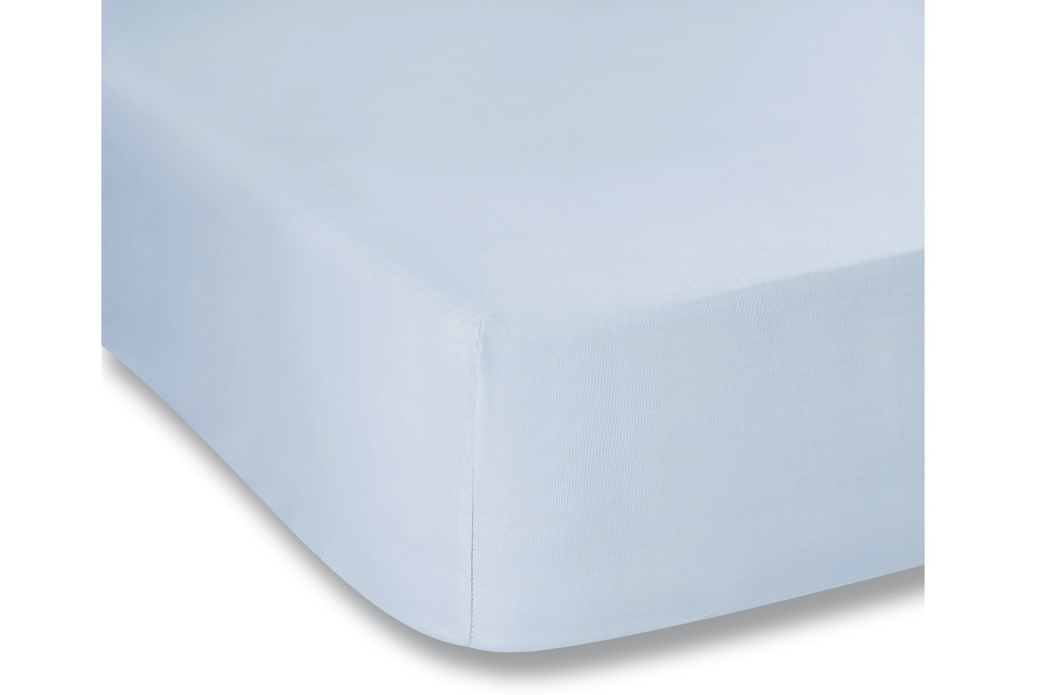 cotton soft single fitted sheet blue