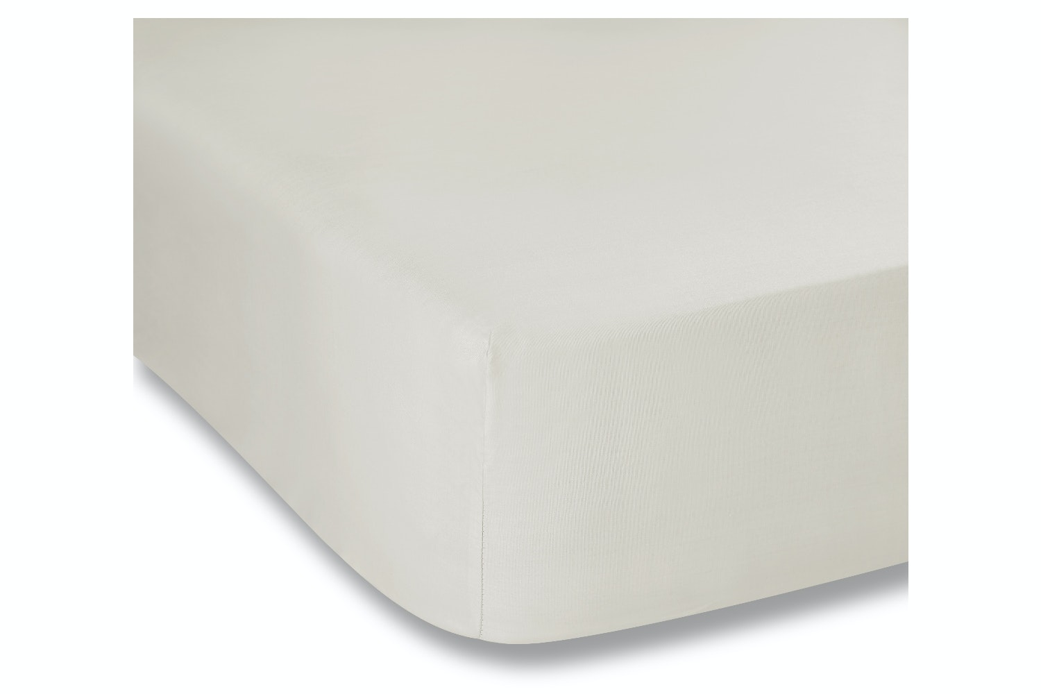 cotton soft single fitted sheet cream