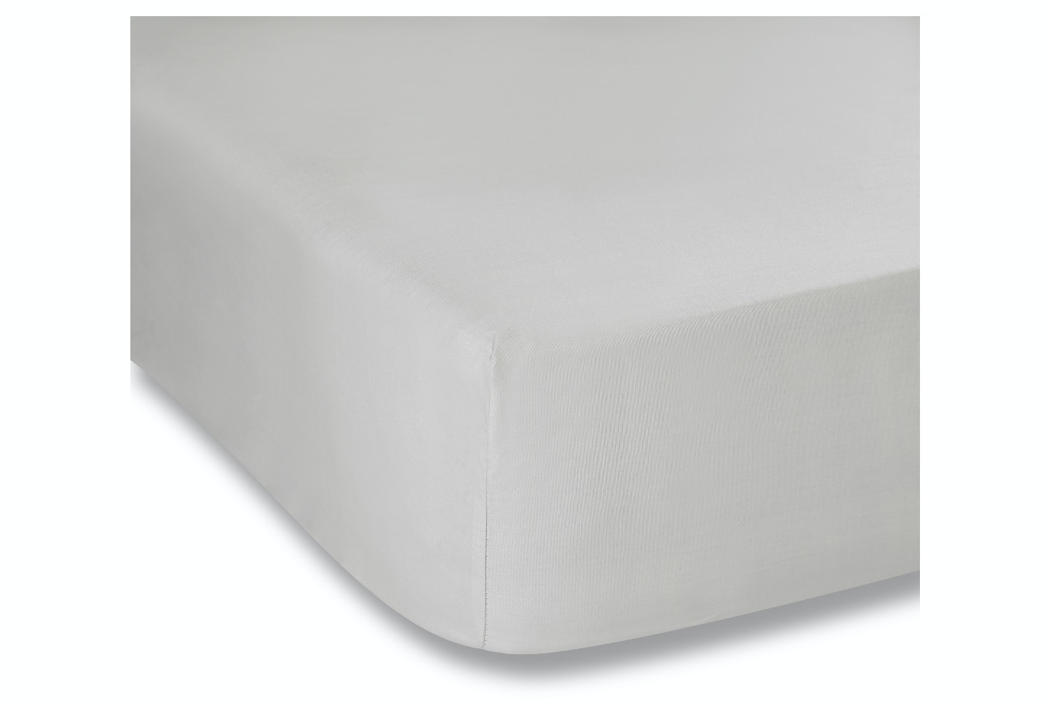 cotton soft fitted sheet double grey