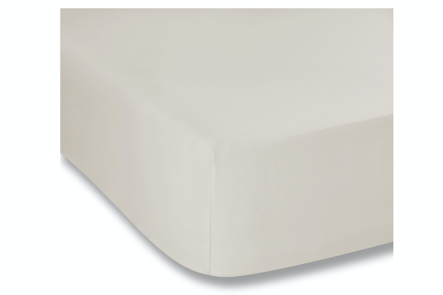 cotton soft fitted sheet double, neutral