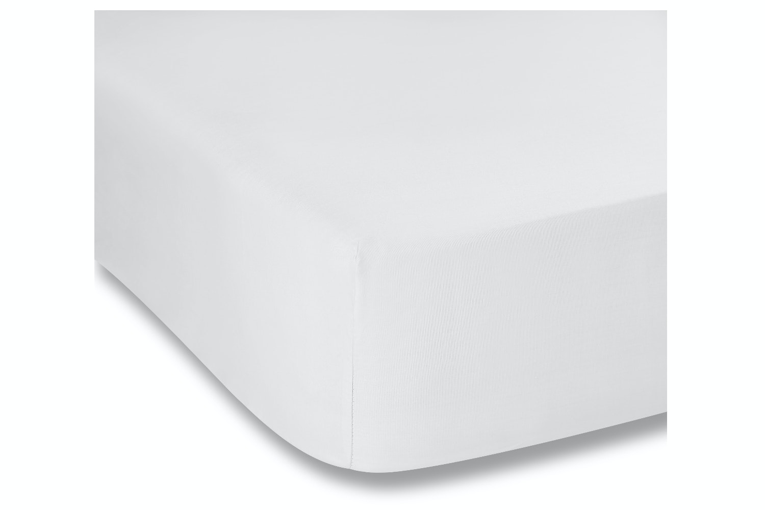 cotton soft fitted sheet double, white