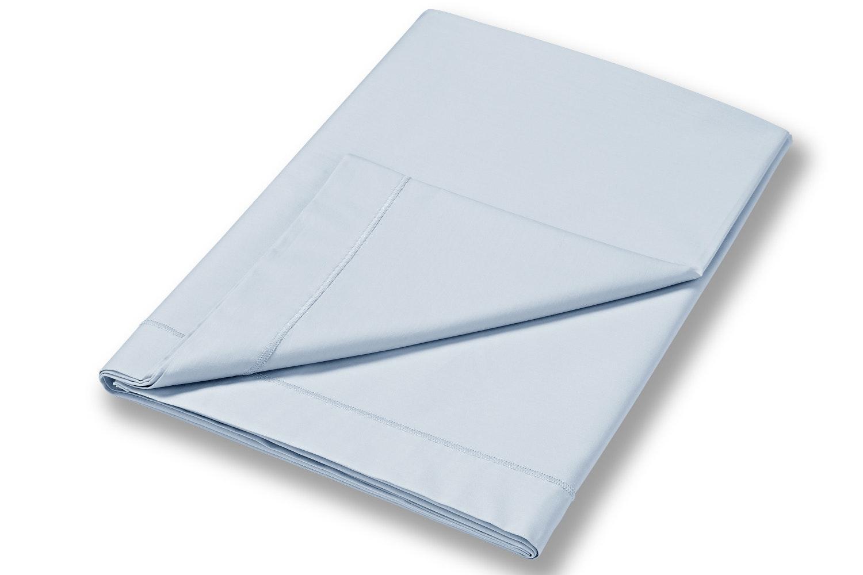 cotton soft king size flat sheet blue