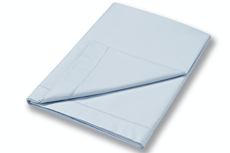 cotton soft double flat sheet blue