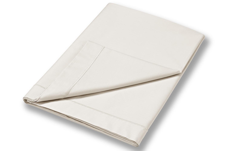 cotton soft king size flat sheet cream