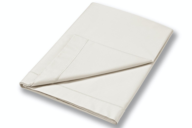 cotton soft single flat sheet cream