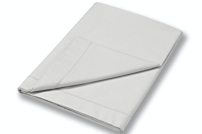 cotton soft single flat sheet grey