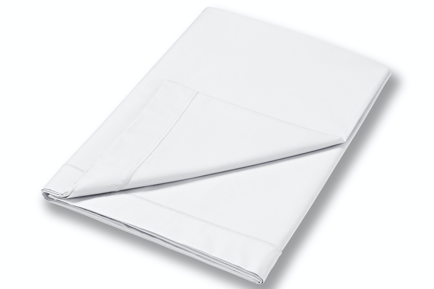 cotton soft single flat sheet white