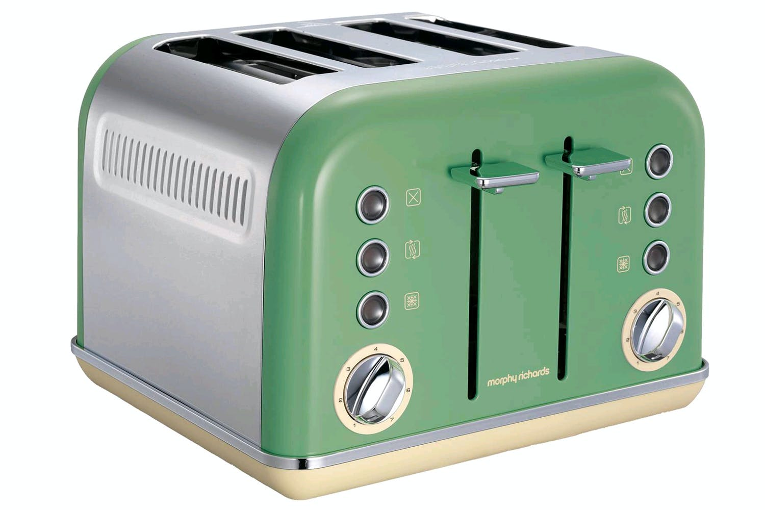 Morphy Richards 4 Slice Retro Accents Toaster | 242006 | Green