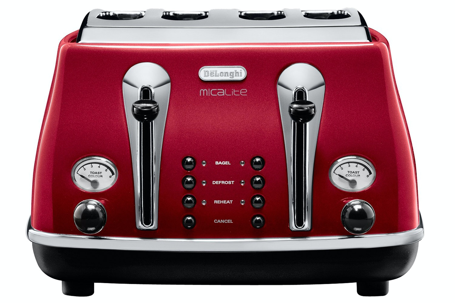 DeLonghi 4 Slice Micalite Toaster | Red