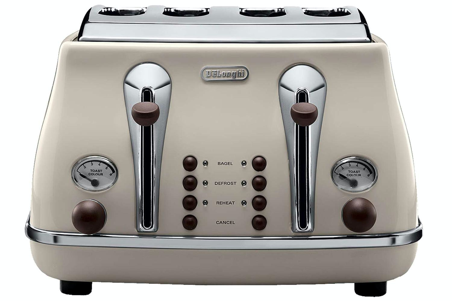 DeLonghi 4 Slice Vintage Toaster | Cream