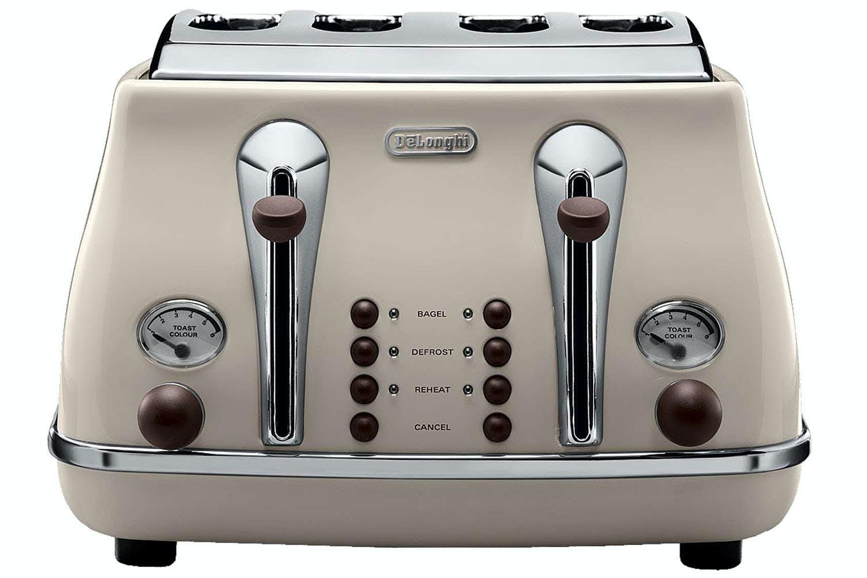 DeLonghi 4 Slice Vintage Toaster | Cream