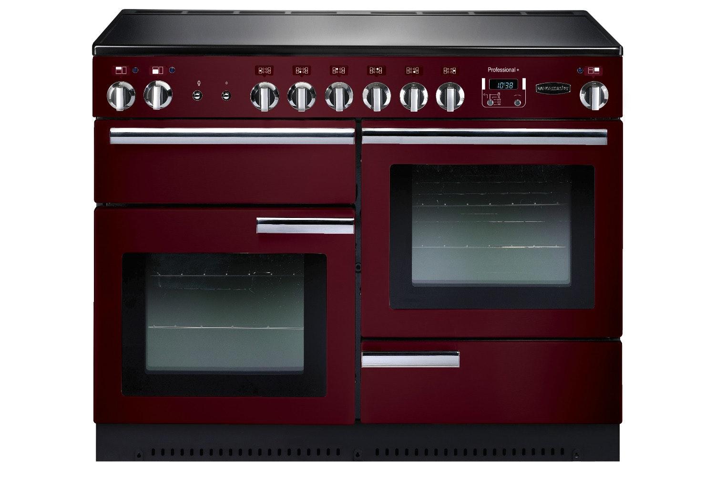 rangemaster pro plus 110cm electric range cooker cranberry red