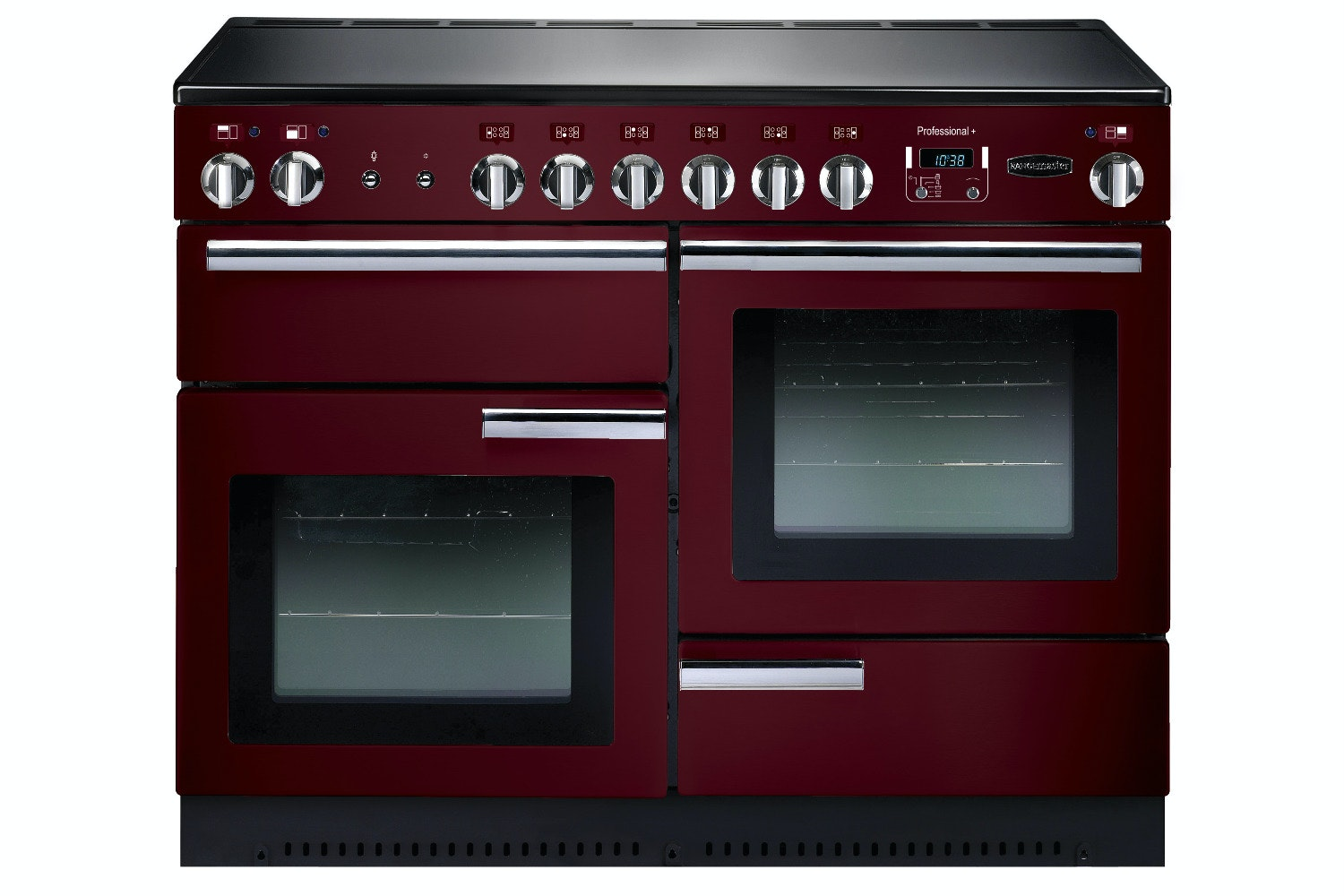 rangemaster pro plus 110cm electric range cooker cranberry red